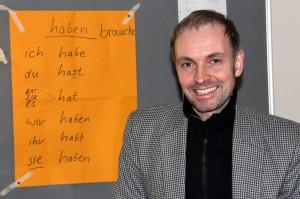 Lars Peters gibt ehrenamtlich Deutschunterricht für die Lampedusa Flüchtlinge